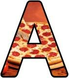 Printable Pizza Lettering For Classroom School Display Boards.