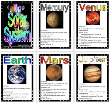 Free printable Science Solar System Facts Posters