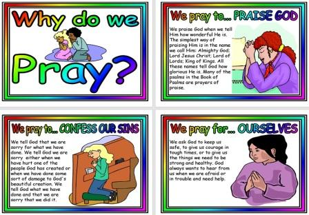 Why do we Pray Simple Posters for Kids