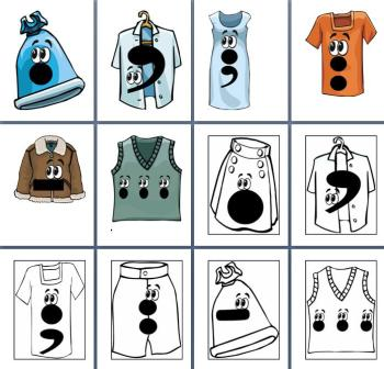 Free Printable Clothesline Punctuation Characters