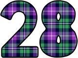 Green and Purple Tartan pattern Instant Dispay digital lettering sets.