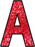 Free printable red glitter background instant display lettering sets for classroom bulletin board displays.  Great for Christmas lettering.