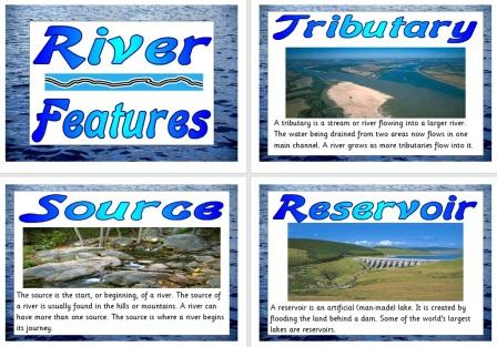 Free Printable Geography Teaching Resource River Features
