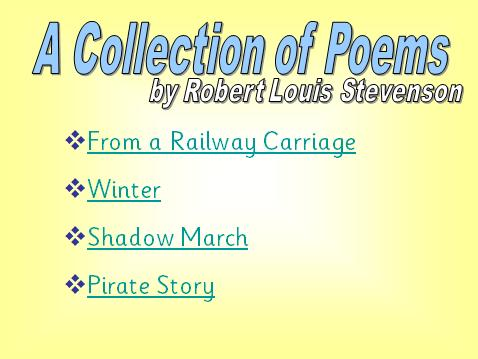 Robert Louis Stevenson Poetry PowerPoint Presentation