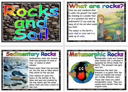 Free Science Resource Rocks and Soils Posters