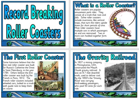 Free Printable Rollercoasters Information Posters for Display