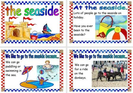 Free printable Things to do at the Seaside posters
