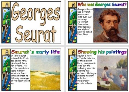 Georges Seurat Biography Posters for Display Free