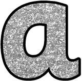 Free printable silver glitter background digital lettering.  Download and print your own classroom display headings with these free silver glitter letters.