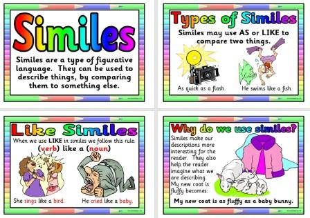 Free Printable Simile Posters