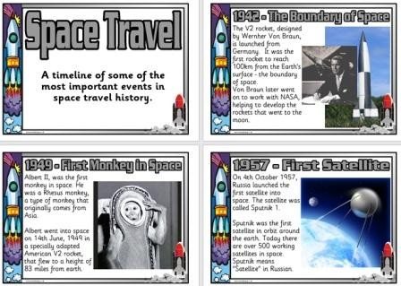 Free Printable Space Travel Timeline