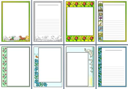 Free Printable Spring Page Borders