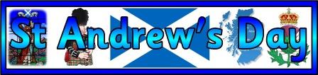Free printable St Andrew's day banner