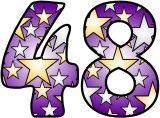 Stars on a purple background free printable instant display lettering sets for classroom bulletin board display.