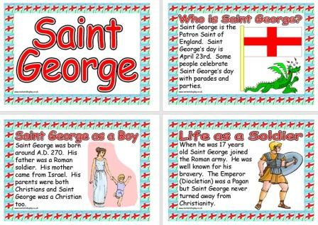 Free printable Saint George Information Poster for children