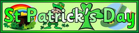 St Patrick's Day Banner Printable