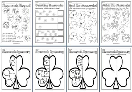 Free Printable St Patrick's Day Maths Worksheets