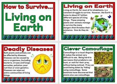 How to Survive Living on Earth Science Posters