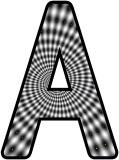 Free printable black and white spiral swirl instant display lettering sets for classroom display.