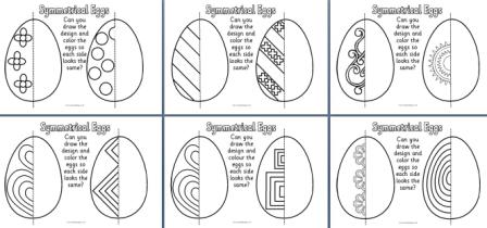 Symmetrical Eggs Colouring Pages