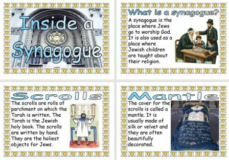 Free Printable Inside a Synagogue Childrens Information Posters