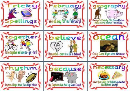 Tricky Spellings Mnemonics