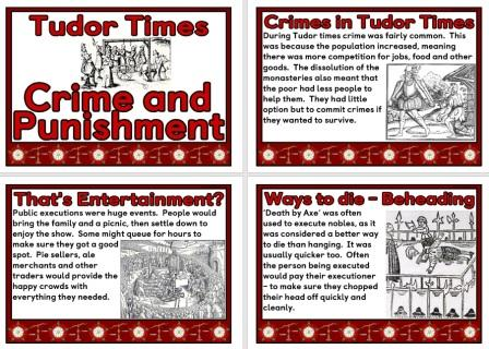 Free Printable Tudor Times Crime and Punishment Posters