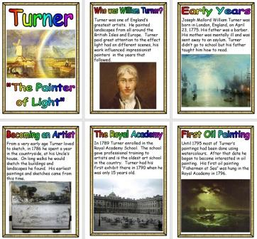 Free William Turner Artist Biography Posters for Display