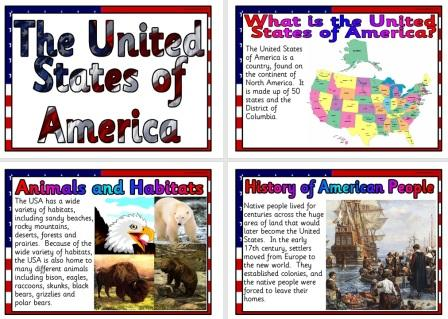 Free Printable Information Posters about the United States of America
