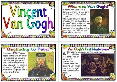 Free Printable Vincent Van Gogh Biography Posters