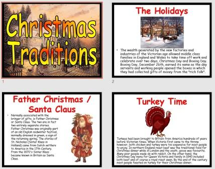Free PowerPoint Presentation of Victorian Christmas Traditions