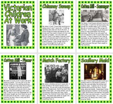 Free printable Working Children in Victorian Times
