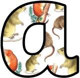 Voles, mice background lettering to download, print, cut out and display
